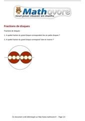 probleme fractions de disques maths 282