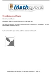 probleme geometriquement fleurie maths 388