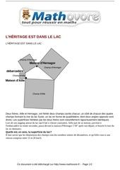 Fichier PDF probleme l heritage est dans le lac maths 315