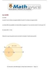 probleme la corde maths 382