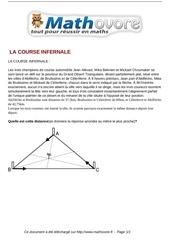 probleme la course infernale maths 309