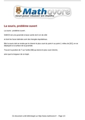probleme la souris probleme ouvert maths 46