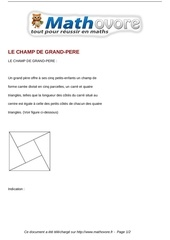 probleme le champ de grand pere maths 298