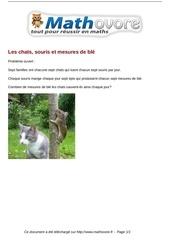 probleme les chats souris et mesures de ble maths 136