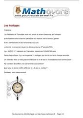 probleme les horloges maths 281