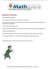 probleme monsieur tournesol maths 285