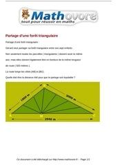 probleme partage d une foret triangulaire maths 89
