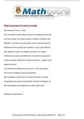 Fichier PDF probleme plat tournant et micro onde maths 104