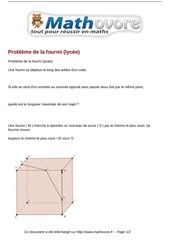 probleme probleme de la fourmi lycee maths 354