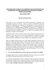 projet de resolution