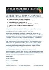 Fichier PDF comment reussir son mlm part2