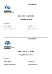 Fichier PDF demande de conges hors ete