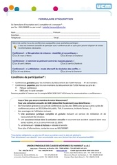 Fichier PDF formulaire d inscription