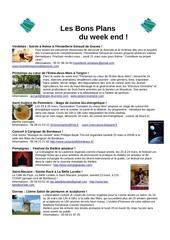 les bons plans du week end semaine 12 2013