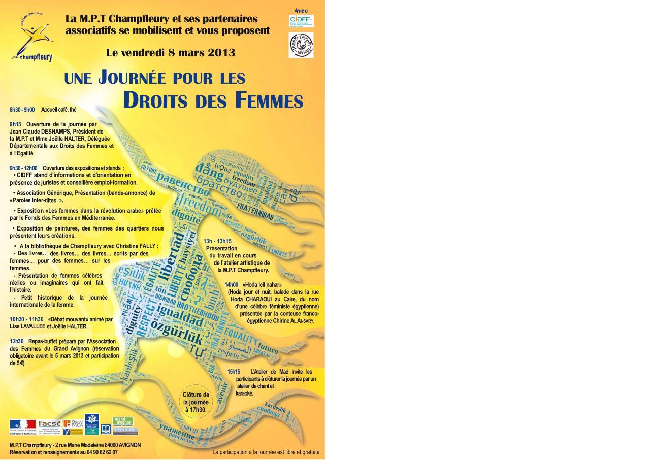 Génial Affiche Pour La Journée De La Femme mail journée de la femme affiche fin 1 exemplaire mail - fichier pdf