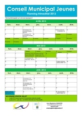 cmj calendrier 2013