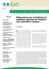 distorsions aux incitations et politique agricole en tunisie