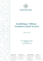 establishing a military transition council in syria