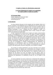 l emploi en tunisie et la liberalisation commerciale
