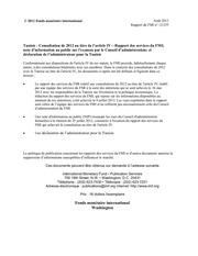 tunisie rapport du fmi aout 2012