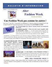 bulletin d information alter fashion week 2