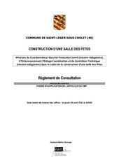 reglement de consultation st leger