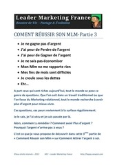 comment reussir son mlm part3 par divinite fichier pdf. Black Bedroom Furniture Sets. Home Design Ideas