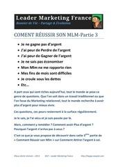 Fichier PDF comment reussir son mlm part3 argent