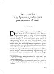 Fichier PDF le corps en jeu