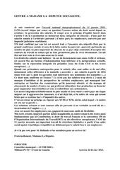 lettre a mme la deputee socialiste ani 2013 02 27