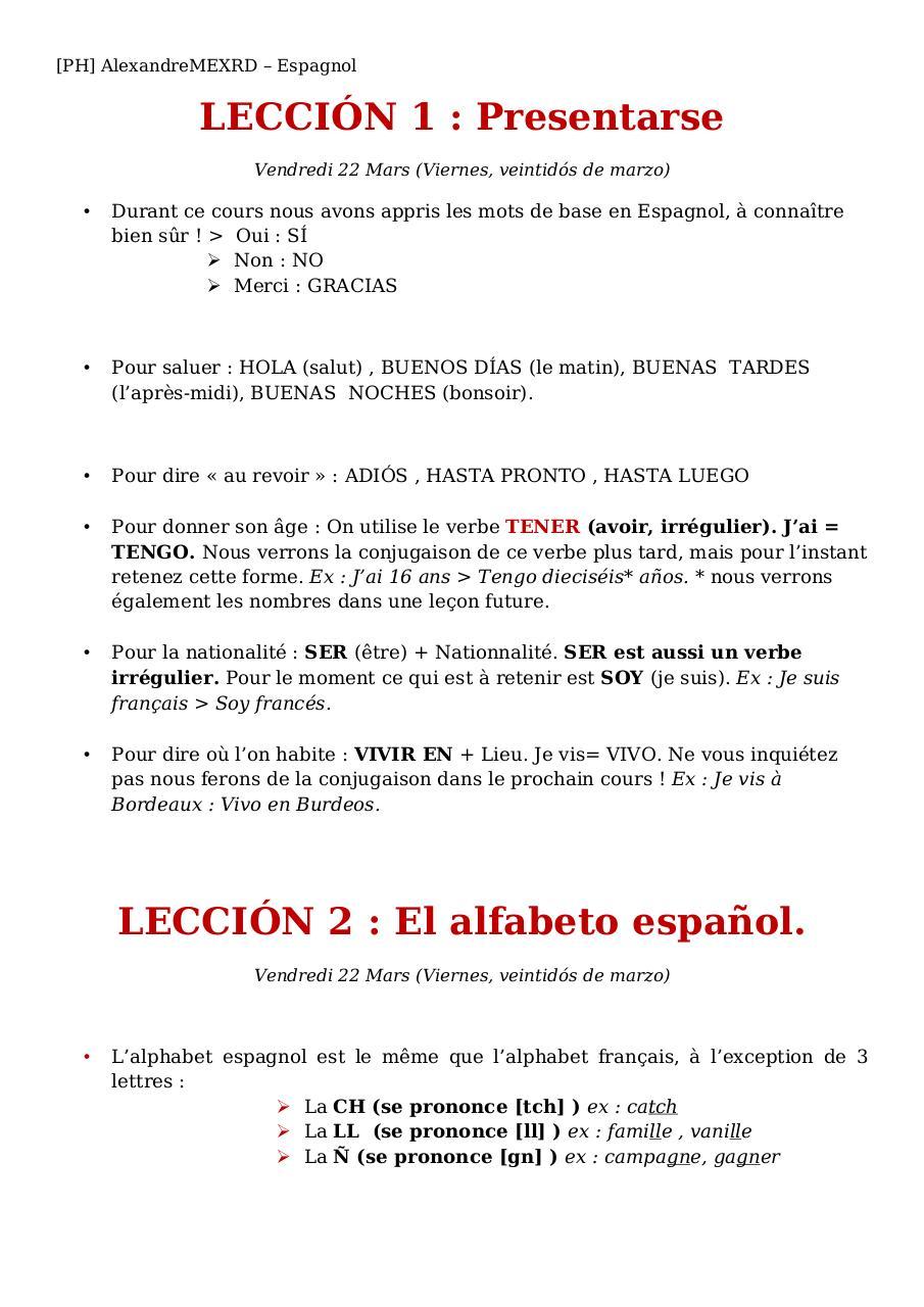 Phespagnol Copy Par Alexandre Fichier Pdf