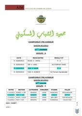 resultats 11j prehonneur 2012 13