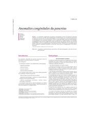 anomalies congenitales du pancreas