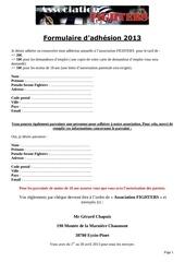 Fichier PDF formulaire adhesion 2013