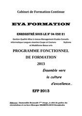 Fichier PDF programme fonctionnel de formation 2013