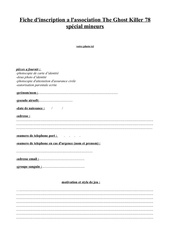 Fichier PDF fiche inscription mineur