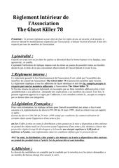 reglement interieur theghostkiller78
