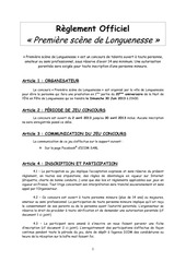reglement officiel