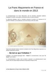 franc maconnerie 2013 1