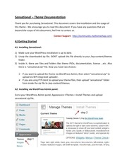 Fichier PDF sensational wordpress theme documentation