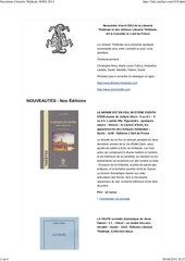 newsletter librairie the trale avril 2013