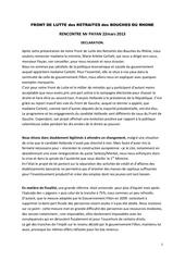 declaration rencontre mr payan mars 2013 1
