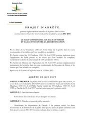 projet d arrete 2013 2014