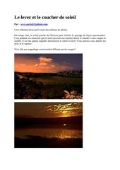 le lever et le coucher de soleil