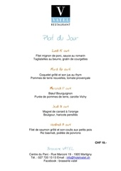 menu semaine 15 hotel vatel