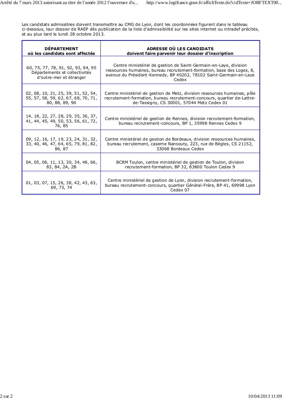 arr t du 7 mars 2013 examen prof tsef 2 me classe par user r580 fichier pdf. Black Bedroom Furniture Sets. Home Design Ideas