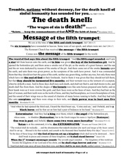 english 4 5th trumpet death knell of humanity