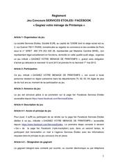 reglement jeu concours fb services Etoiles