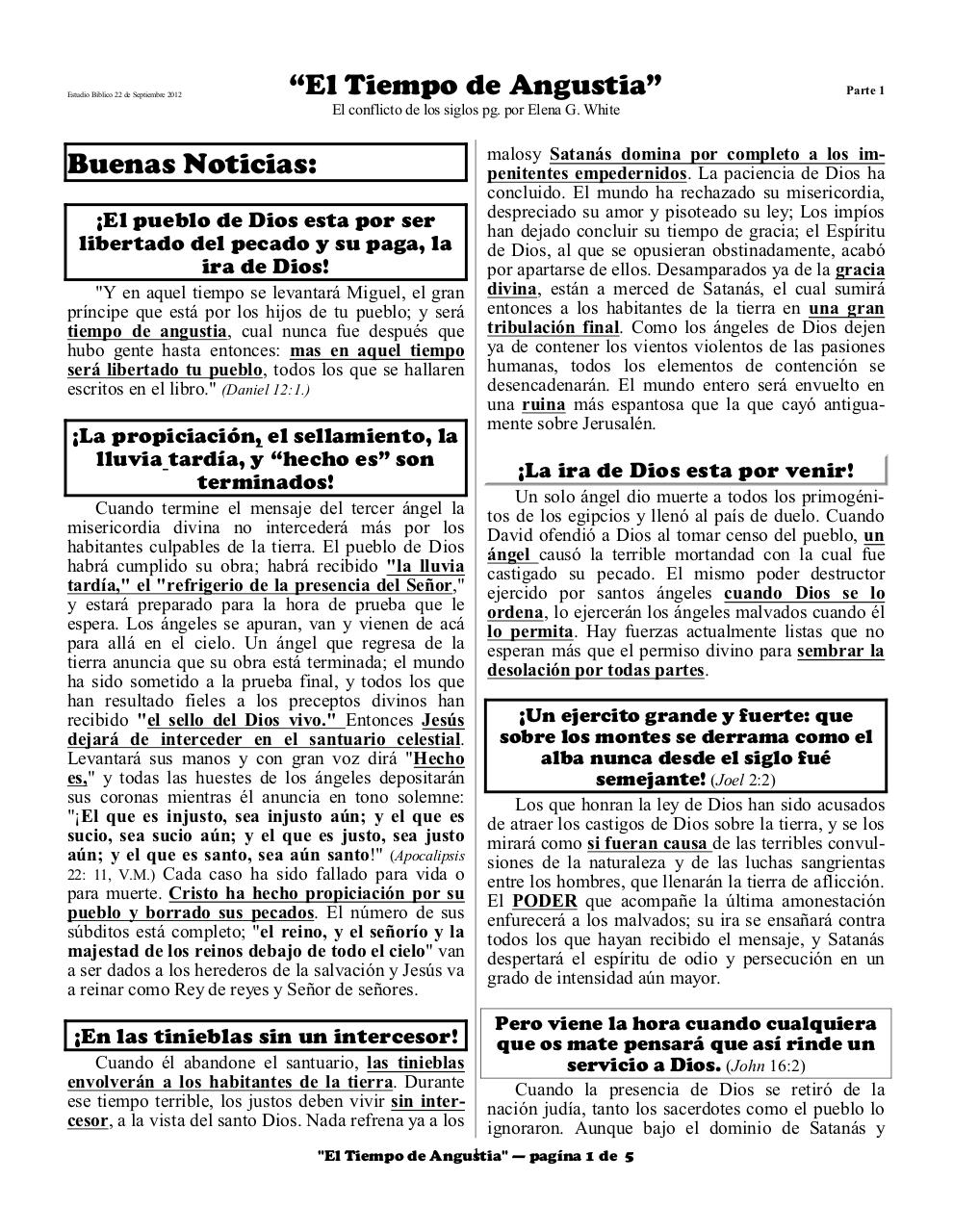 Aperçu du document Spanish 3A time of trouble part 1 Spanish.pdf - page 1/5