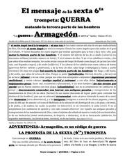 spanish 5 la sexta trompeta